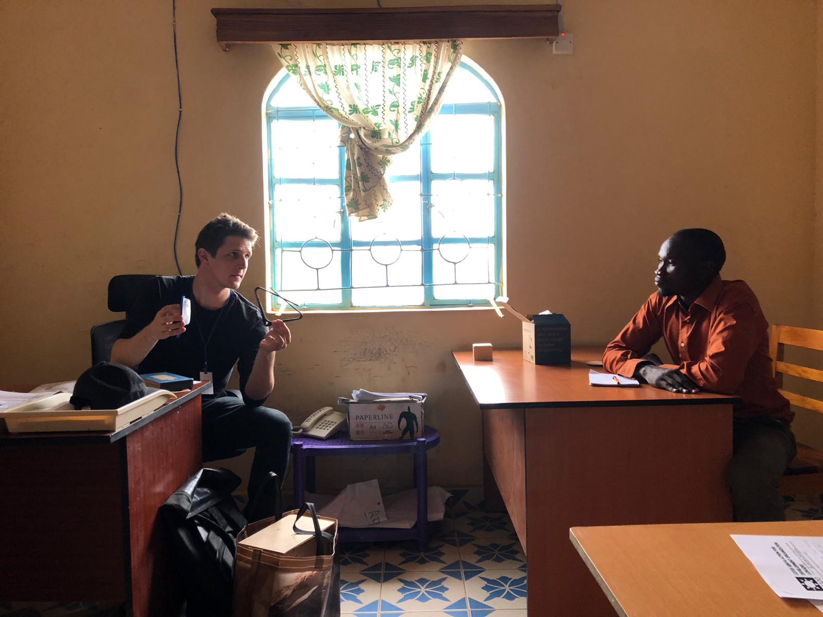 team bright solar field testing kakuma refugee camp
