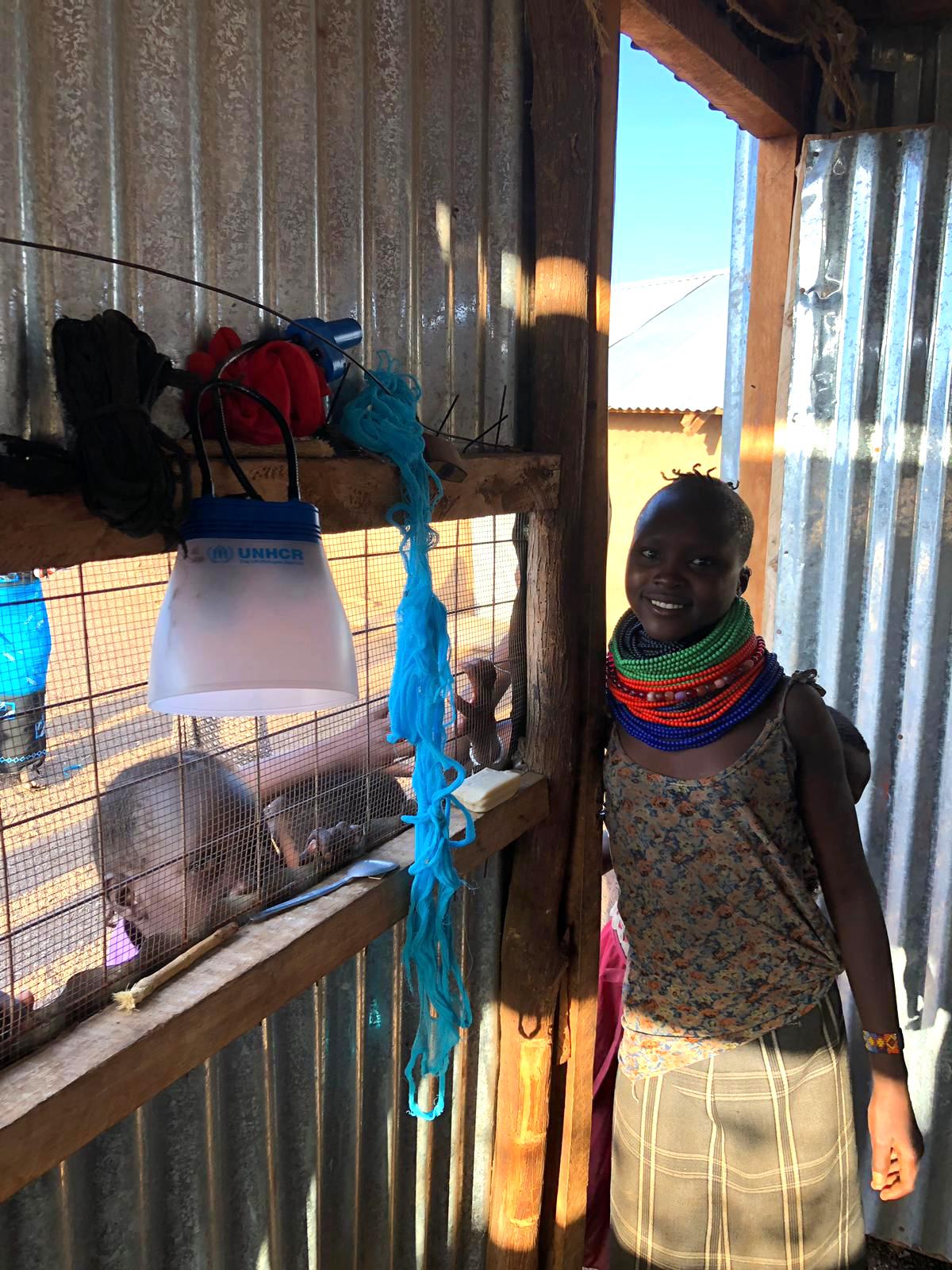sunbell solar lamp kakuma refugee camp